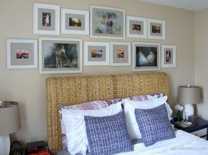 watercolor gallery wall
