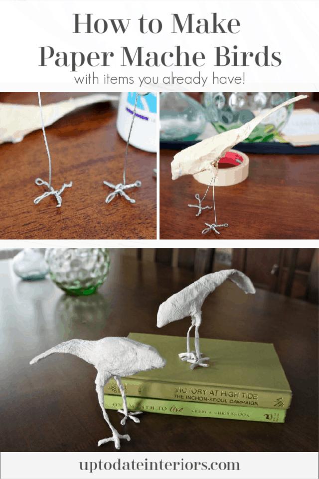 How To Make Paper Mache Birds Pinterest Black