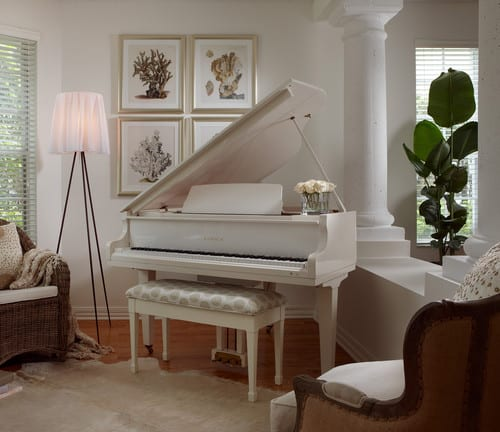 Adelene Keeler Smith white piano