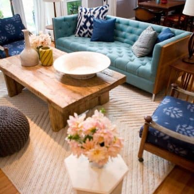 Emily Henderson Bohemian Transitional Living Room