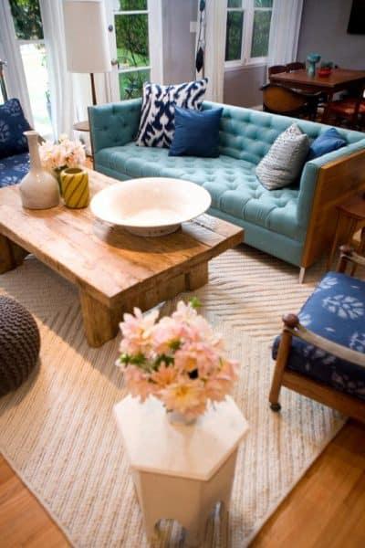 Emily Henderson Bohemian Transitional Living Room