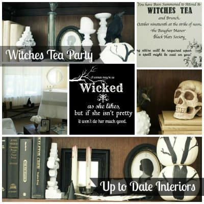 Witches Tea Party: Invite and Decor
