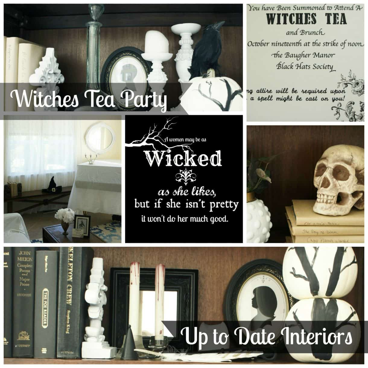 Witches Tea Party Decor And Invitation Inspiration