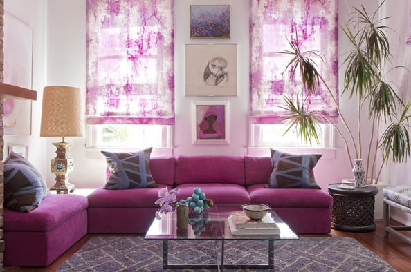 angie-hranowsky-house-tour-livingroompinkcouchglasstoppedcoffee