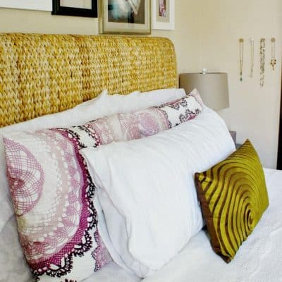 renter friendly bedroom makeover