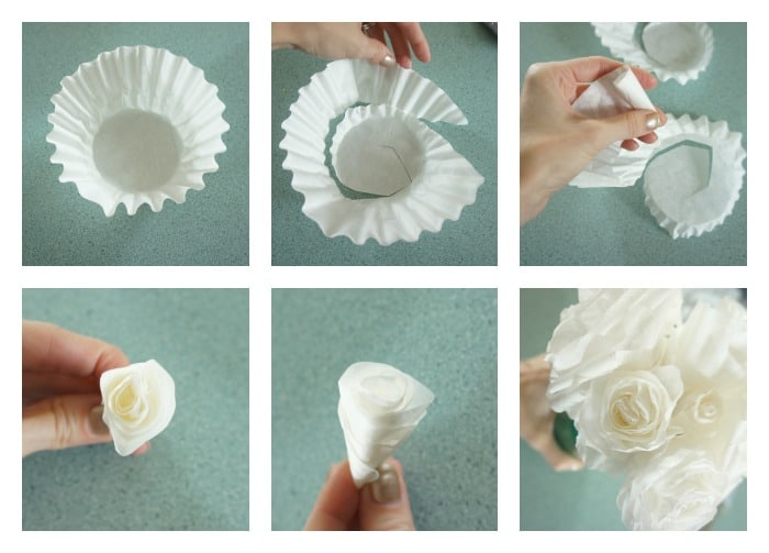 The best way to make coffee filter roses with step by step pictures coffee filter flower steps mightylinksfo