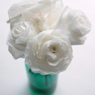 Create gorgeous paper flowers with coffee filters.