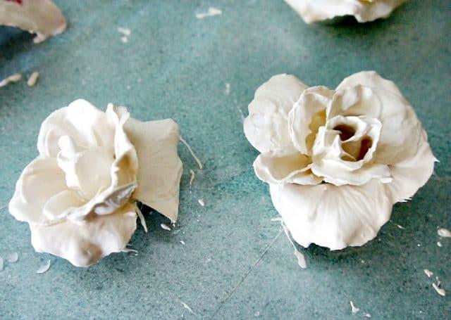 Plaster Flowers Drying