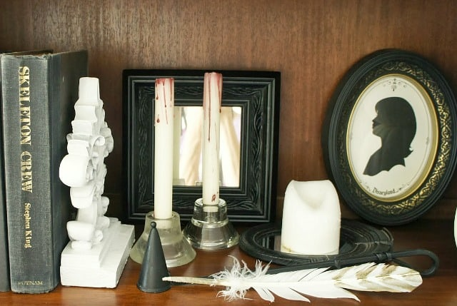 create DIY bleeding candles for halloween decor