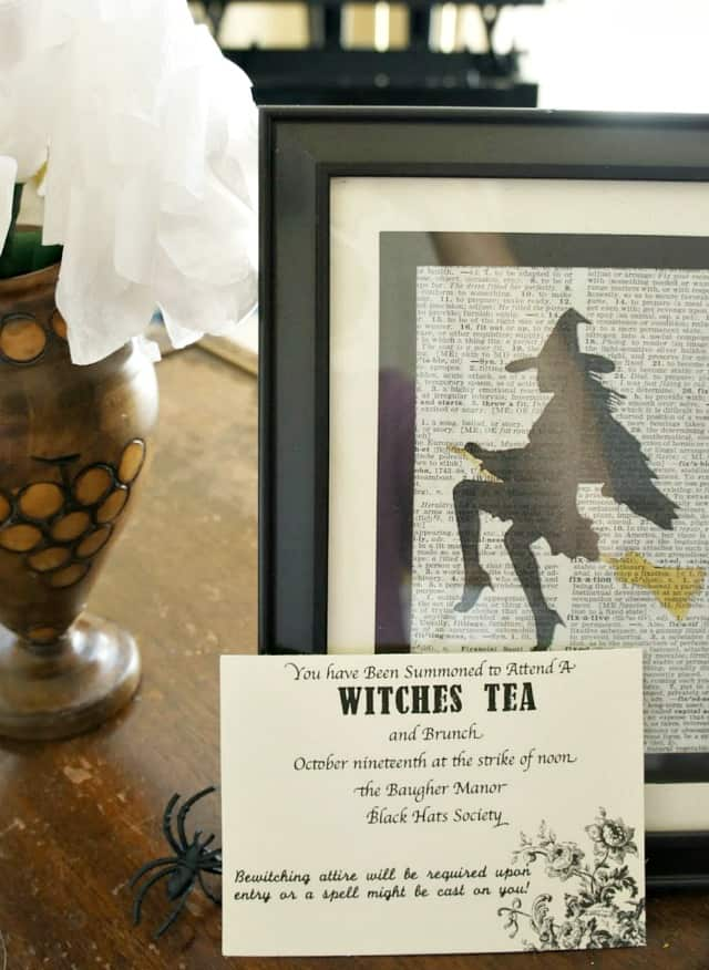 witches tea invite and witch art