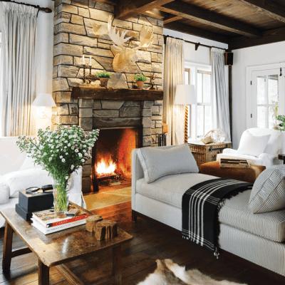 Cozy Winter Hideaways Michael Angus Janet Kimber Living Room Hh Oc11