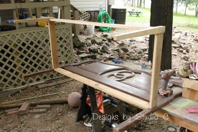 Bench Frame With Old Headboard