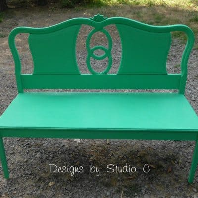 Green Bench From Headboard