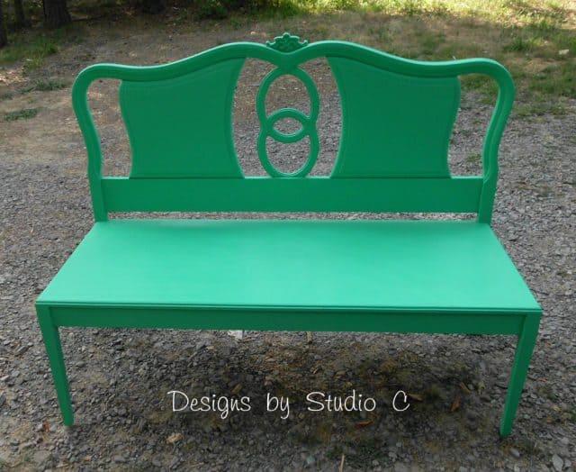 Green Bench From Headboard
