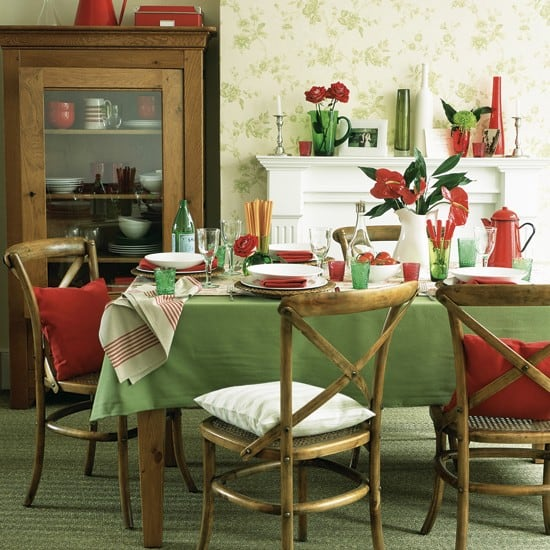 Green-and-red-dining-room-Ideal-Home