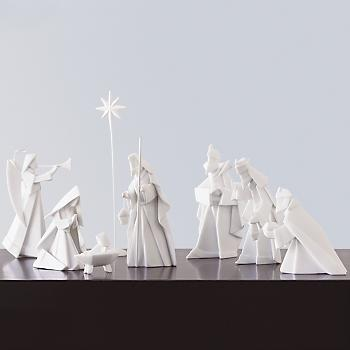 porcelain-origami-nativity-set
