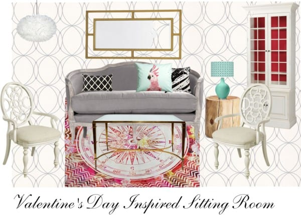 Valentine's Day Inspired Sitting Room