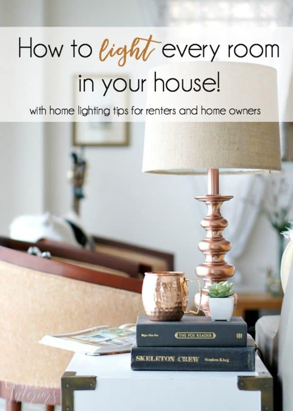home lighting tips for renters and home owners