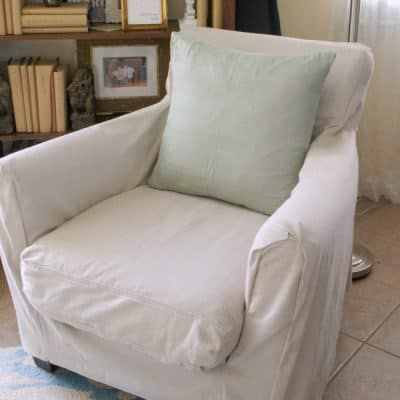 easy diy slipcover for under $20