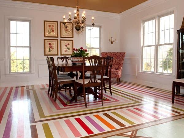 Nate Berkus painted floor