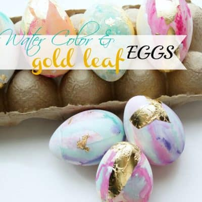 Water Color & Gold Leaf Eggs