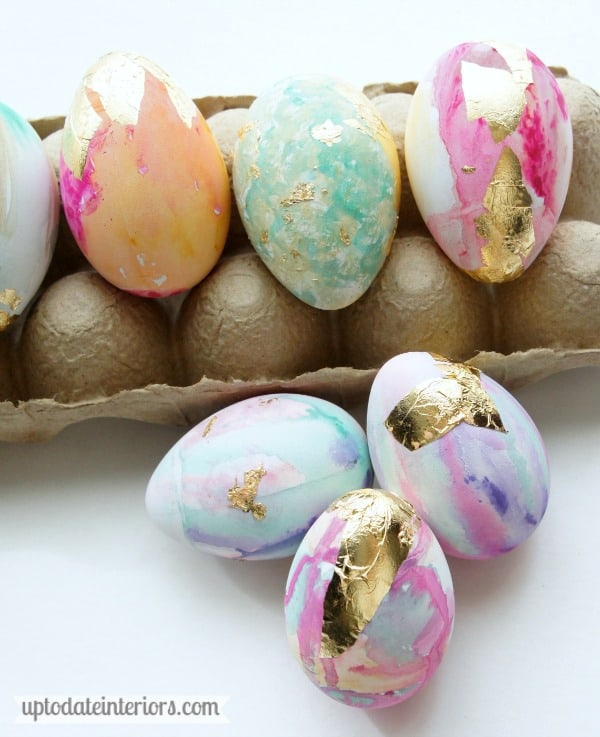 close up of easter eggs
