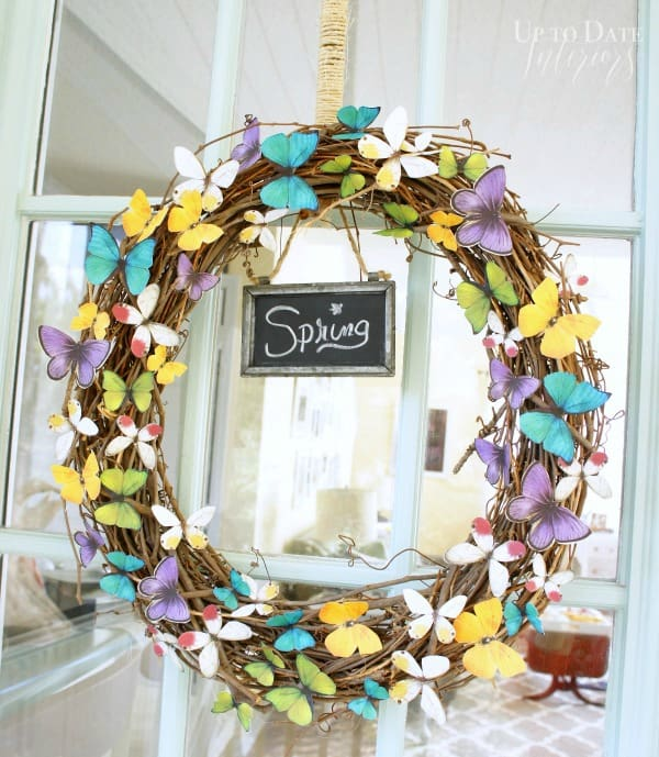 paper butterfly wreath with easy step by step instructions