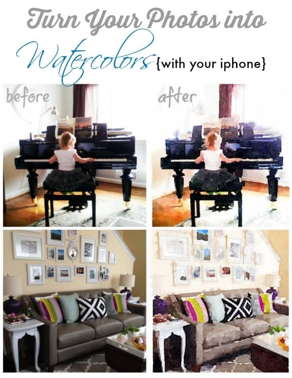 turn photos from your iphone into watercolors