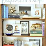 Bookcase Styling Blue Pinterest