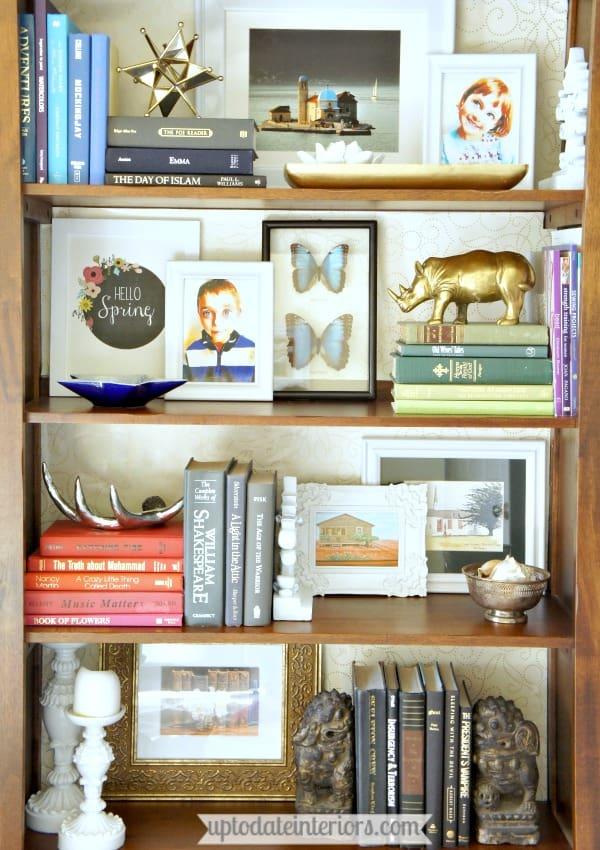 DIY shelf decor