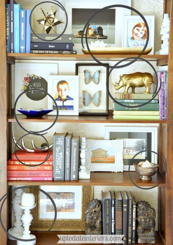 shelf decor ideas by rule of thirds