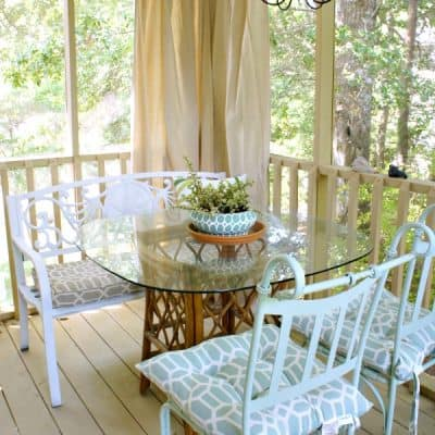 renter friendly patio makeover