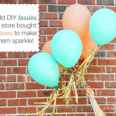 DIY Tissue Tassels for Party Balloons
