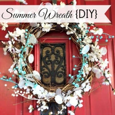 Summer Wreath in Red, White, and Blue