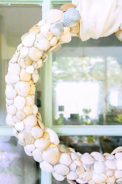 Diy Seashell Beach Wreath Clam Shells 3
