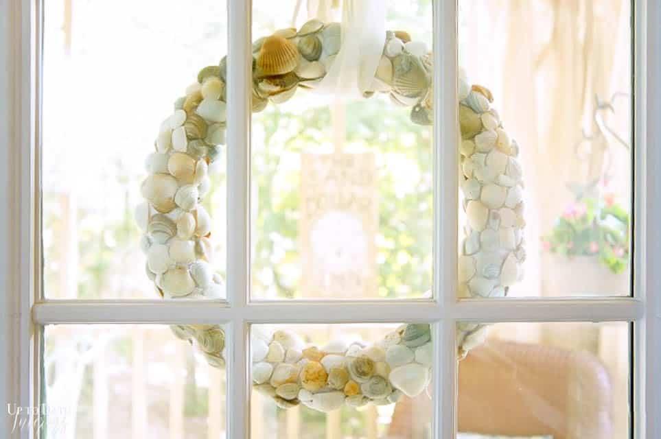Diy Seashell Beach Wreath Clam Shells 4