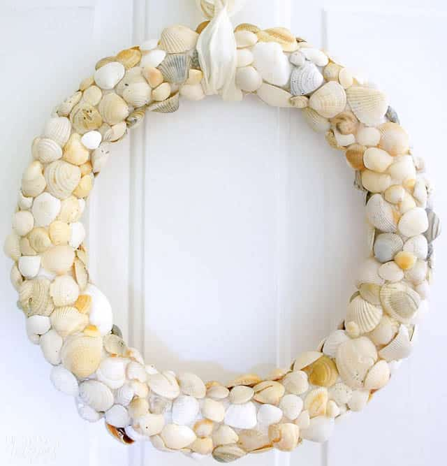 Diy Seashell Beach Wreath Clam Shells 5