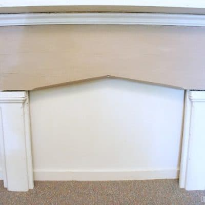salvaged old farmhouse fireplace surround makeover