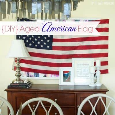 DIY Aged American Flag