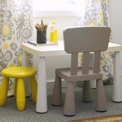 ikea kids table makeover