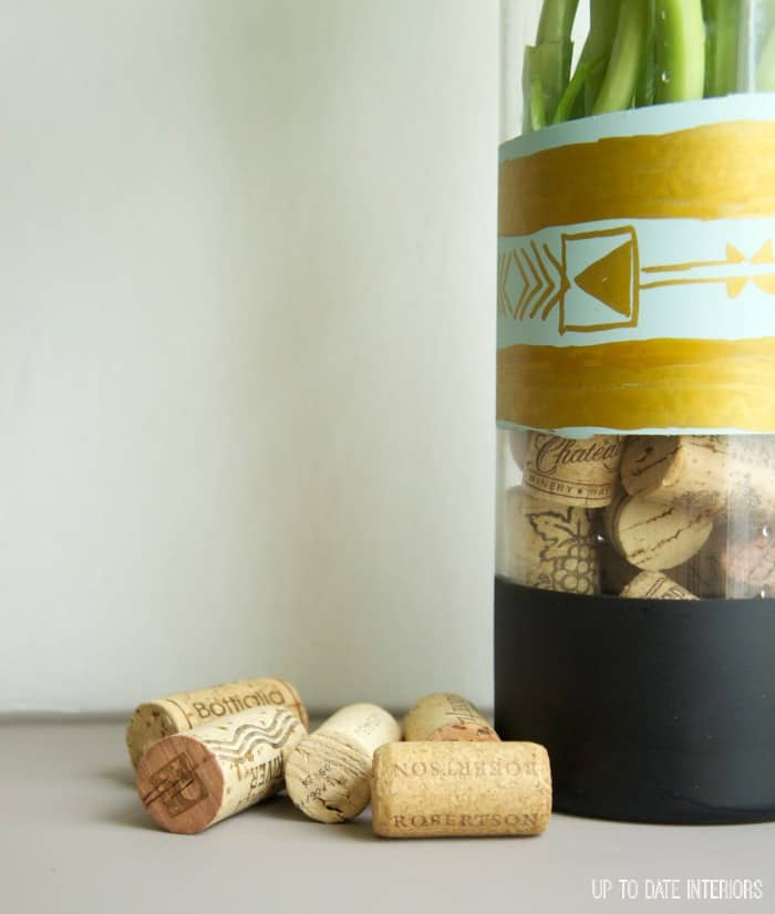 Diy Hand Painted Vase With Cork Filler