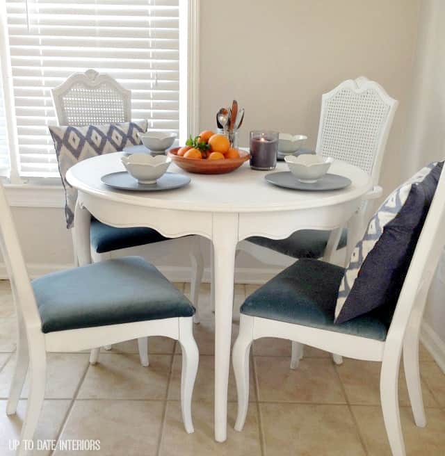 thrifted dining table makeover
