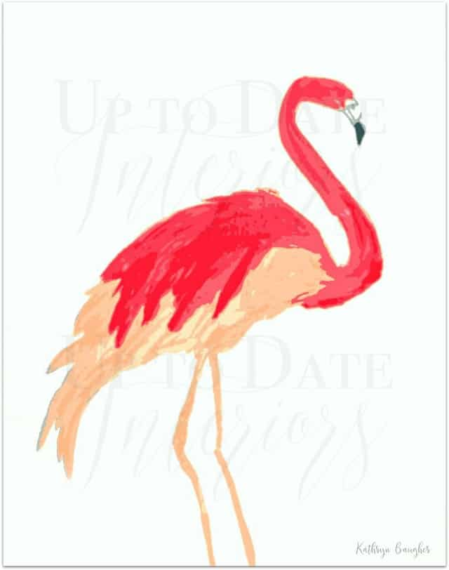 flamingo art, free for personal use