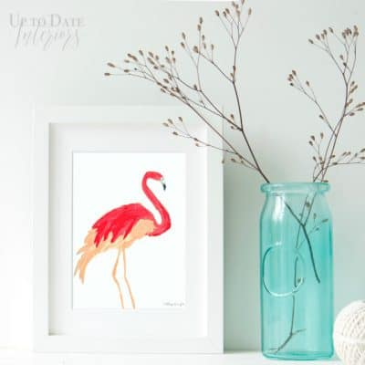 Flamingo Art {free printable}