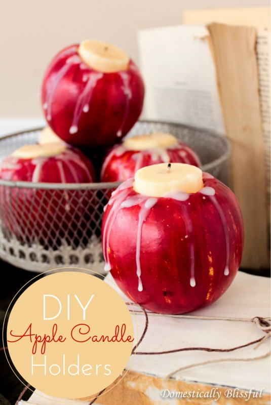 DIY-Apple-Candle-Holders