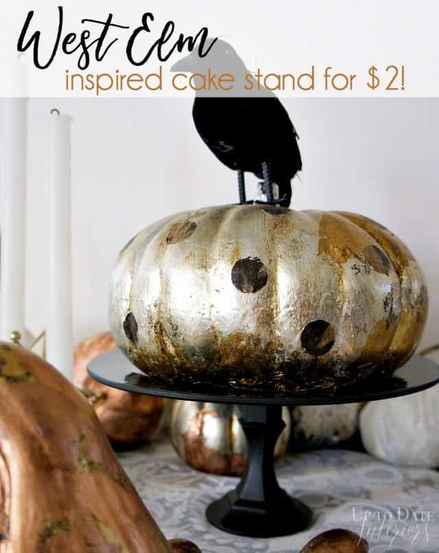 easy dollar store cake stand for halloween