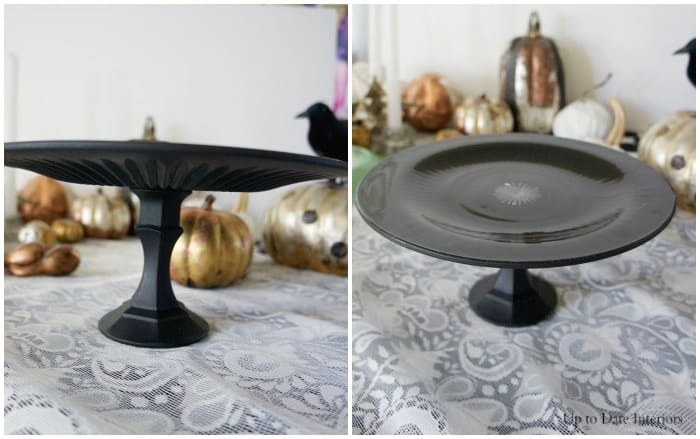 halloween cake stand inspired by West Elm