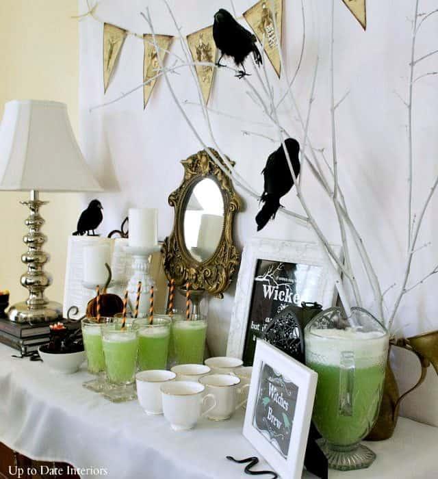 witches tea buffet vignette