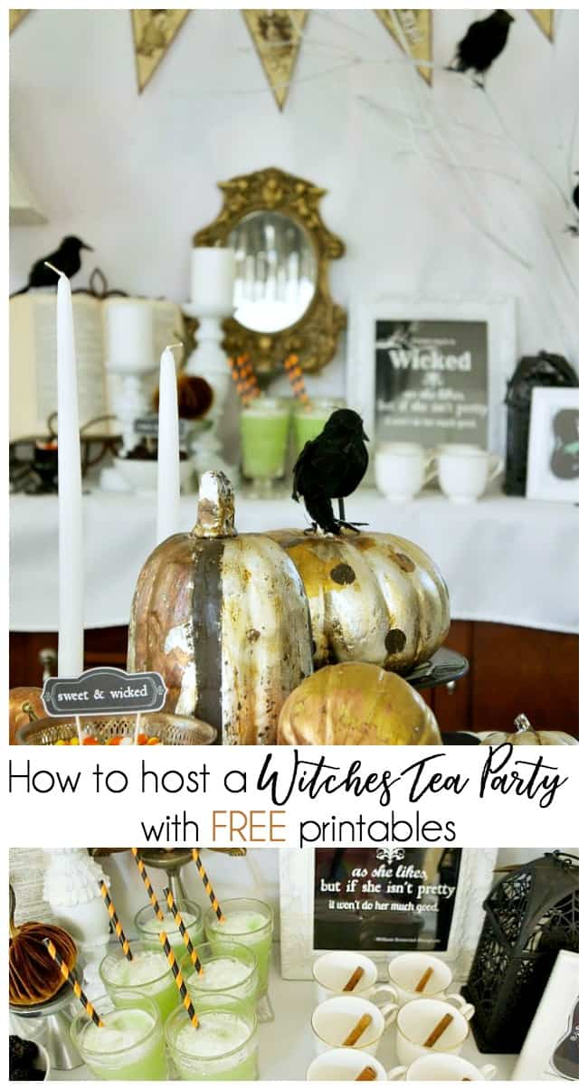 how to host a witches tea party with free printables