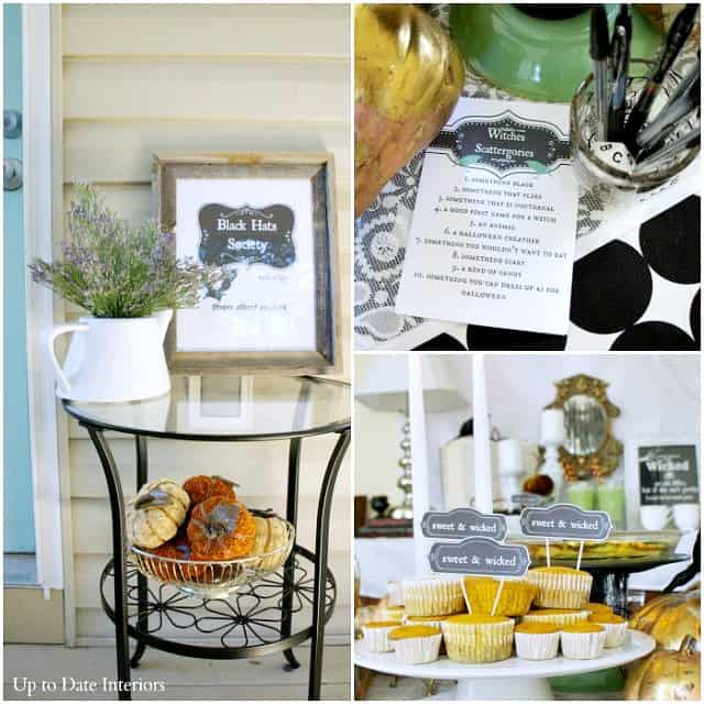 witches tea party printables and decorating ideas